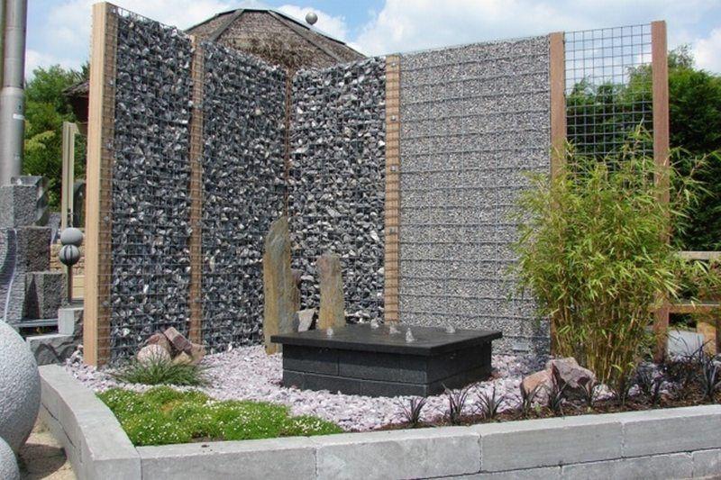 gabionen steinkorb h180 b90 t9 outdoor ambiente gabionen