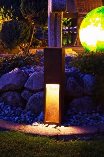 rusty slot 50 licht im garten rusty standleuchten. Black Bedroom Furniture Sets. Home Design Ideas