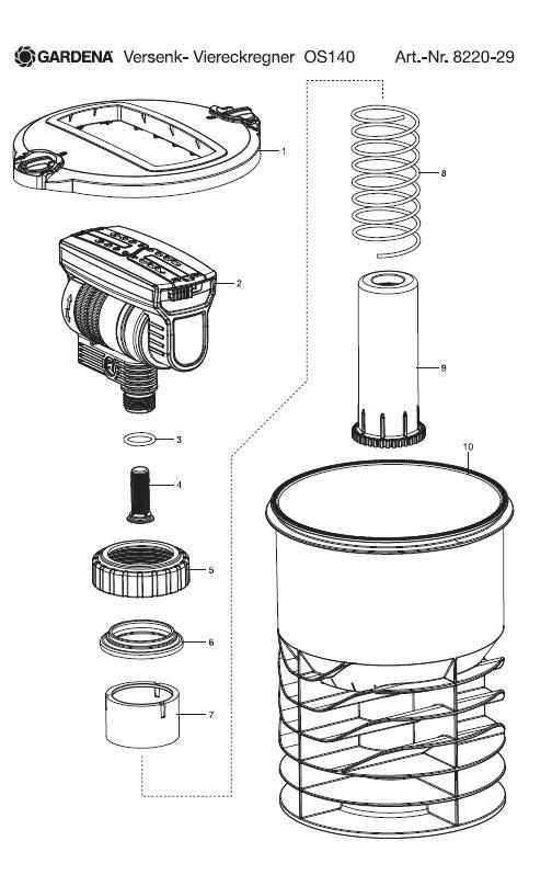gardena schachtdeckel f r os 140 1 gardena. Black Bedroom Furniture Sets. Home Design Ideas